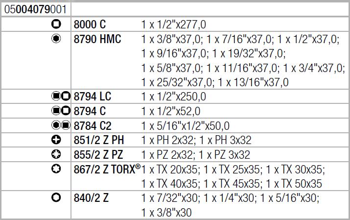 "Zyklop Speed 8100 SC 9 - набор с трещоткой, привод 1/2"", дюймовый WERA 05004079001"