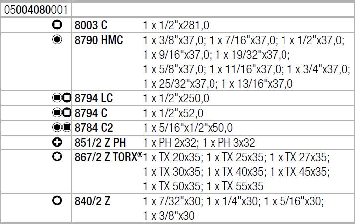 """Zyklop Metal 8100 SC 10 - набор с трещоткой, сдвижной квадрат, привод 1/2"""", дюймовый WERA 05004080001"""