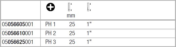 Бита торсионная, сверхтвёрдое исполнение PH1х25 мм WERA 05056605001