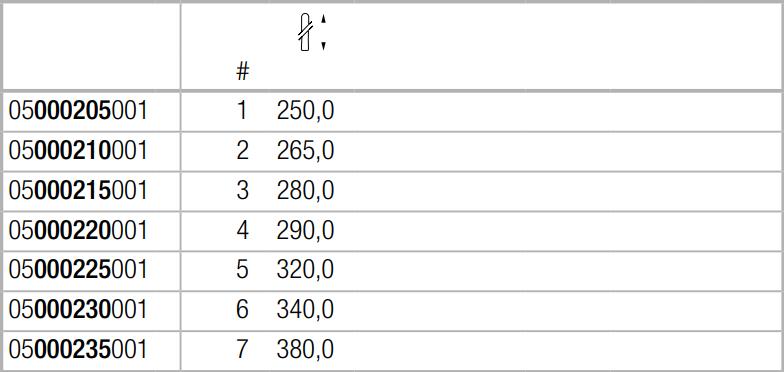 100 S Отдельная ручка из ясеня для молотка 100, 101, 102, длина 380 мм, WERA 05000235001