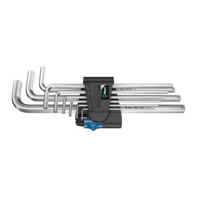 Набор Г-образных ключей, метрических, хромированный, с фиксирующей функцией 950/9 L Hex-Plus HF 1 WERA 05022130001