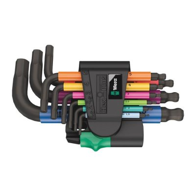 Набор Г-образных ключей, метрических, BlackLaser, 950/9 Hex-Plus Multicolour 2 WERA 05133164001