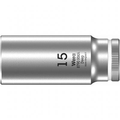 Торцовая головка 1/4″ удлинённая 15,0х50 мм WERA 05004512001