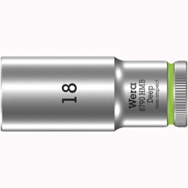 Торцовая головка 3/8″ удлинённая 8790 HMB Deep 18 мм WERA 05004540001