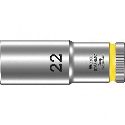 Торцовая головка 1/2″ удлинённая 8790 HMC Deep 22 мм WERA 05004562001