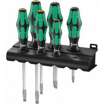 Набор отверток со вспомагательным шестигранником (SL, PZ) Kraftform Plus Lasertip WERA 05007681001