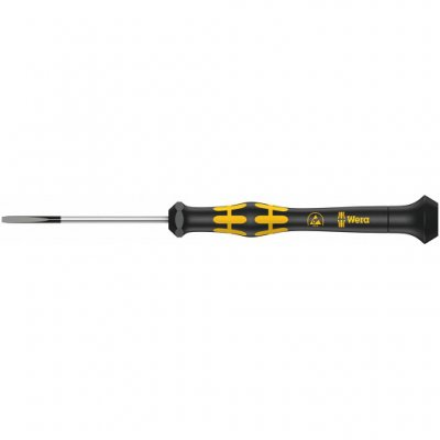 Шлицевая отвертка для электронщиков с электростатической защитой Kraftform Micro ESD SL 1,8х60 мм WERA 05030102001