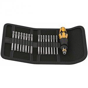 Отвертка с электростатической защитой с набором насадок Kompakt 60 ESD (SL, PH, PZ, TX, HEX) WERA 05051043001