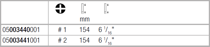Вставка Kraftform Kompakt VDE для винтов PlusMinus Phillips/шлиц PH/S1х154 WERA 05003440001