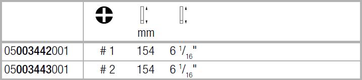 Вставка Kraftform Kompakt VDE для винтов PlusMinus Phillips/шлиц с зауженным рабочим концом PH/S1х154 WERA 05003442001