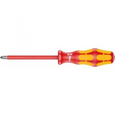 Крестовая изолированная отвертка Kraftform Plus PH1х150 мм WERA 05006153001