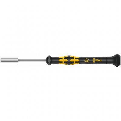 Торцовая отвёртка для винтов с наружным шестигранником для электронщиков с электростатической защитой 2,0х60 мм WERA 05030412001