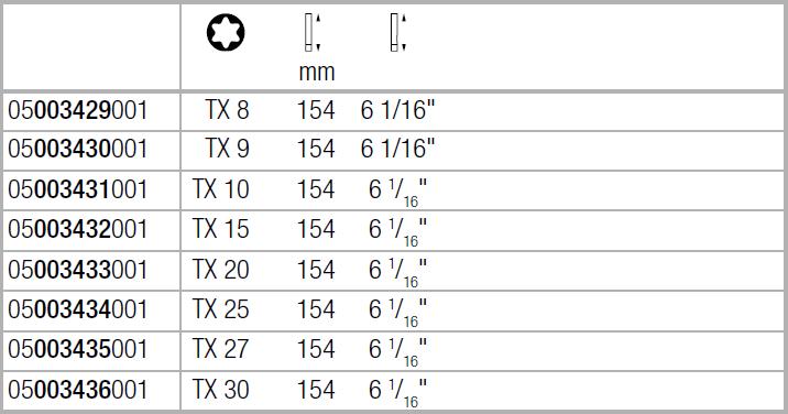 Вставка Kraftform Kompakt VDE для винтов TORX TX15х154 мм WERA 05003432001