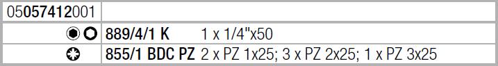 Набор бит с алмазным покрытием Bit-Check 7 PZ Diamond 1 WERA 05057412001