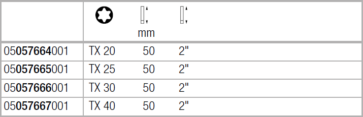 Бита Impaktor ударная TX30х50 мм WERA 05057666001