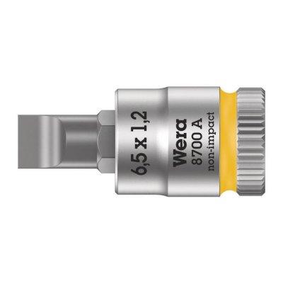 Шлицевая отверточная головка Zyklop 1/4″ SL6,5х28 мм WERA 05003322001