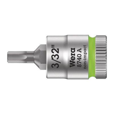 Отверточная головка Zyklop 1/4″ шестигранная дюймовая HEX3/32″х28 мм WERA 05003381001