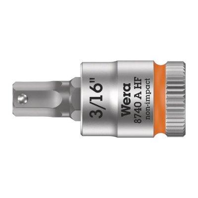 Отверточная головка Zyklop 1/4″ шестигранная дюймовая HEX3/16″х28 мм WERA 05003386001