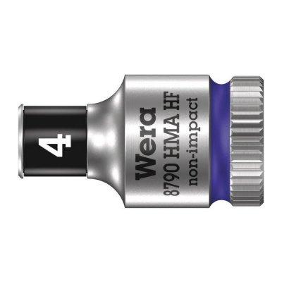 Торцовая головка Zyklop 1/4″ с фиксирующей функцией 4,0х23 мм WERA 05003717001