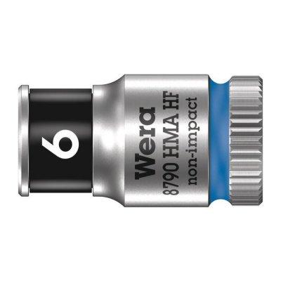Торцовая головка Zyklop 1/4″ с фиксирующей функцией 6,0х23 мм WERA 05003721001