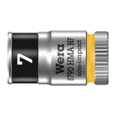 Торцовая головка Zyklop 1/4″ с фиксирующей функцией 7,0х23 мм WERA 05003722001
