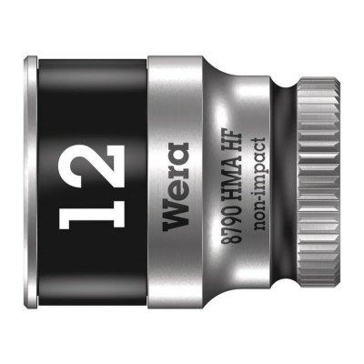 Торцовая головка Zyklop 1/4″ с фиксирующей функцией 12,0х23 мм WERA 05003727001
