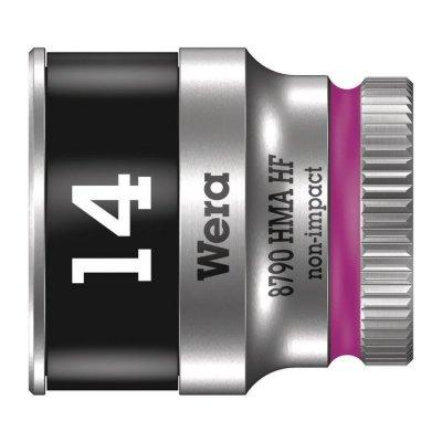 Торцовая головка Zyklop 1/4″ с фиксирующей функцией 14,0х23 мм WERA 05003729001
