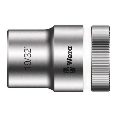 Торцовая головка Zyklop 1/2″ дюймовая 19/32″х37 мм WERA 05003622001