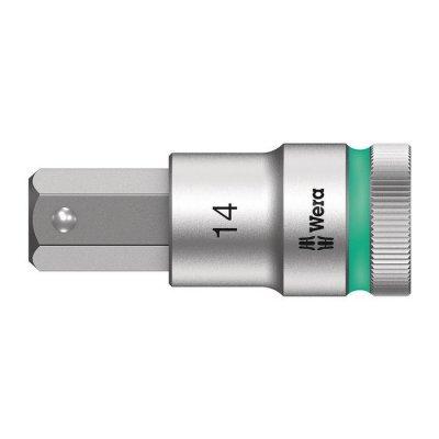 Отверточная головка Zyklop 1/2″ шестигранная HEX14,0х60 мм WERA 05003827001