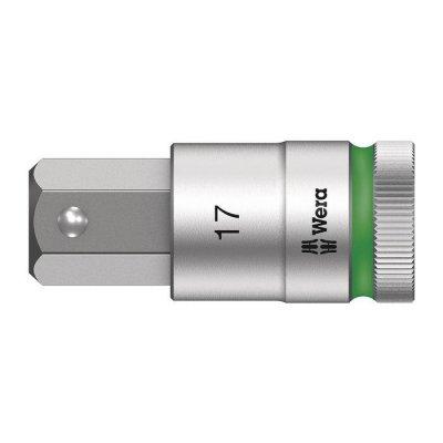 Отверточная головка Zyklop 1/2″ шестигранная HEX17,0х60 мм WERA 05003828001