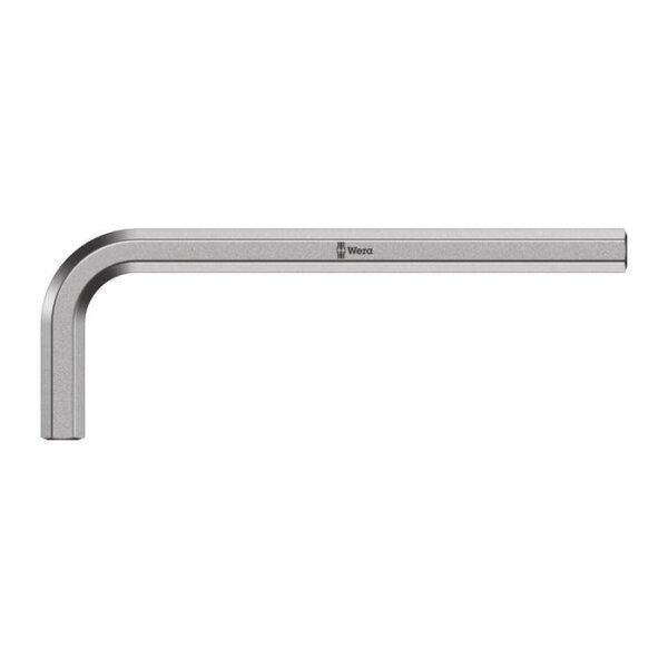 Г-образный ключ, метрический, хромированный, короткий 2,0 мм WERA 05021010001